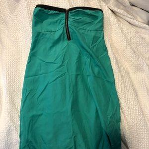 Roxy green strapless dress
